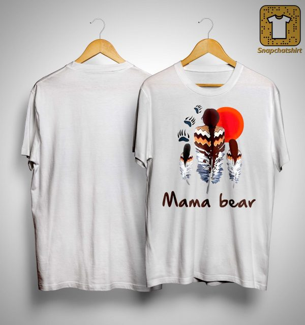 Native Feather Mama Bear Shirt