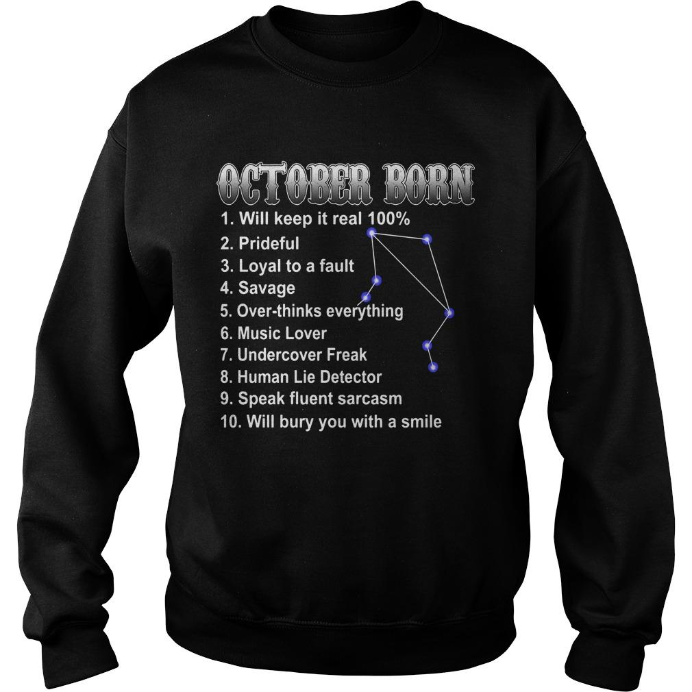 October Born Will Keep It Real 100 Prideful Sweater