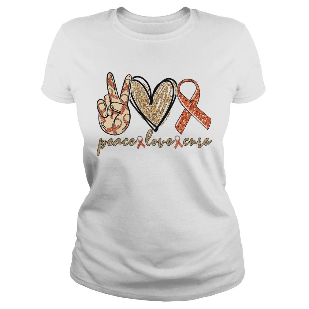 Peace Love Cure Leukemia Awareness Longsleeve