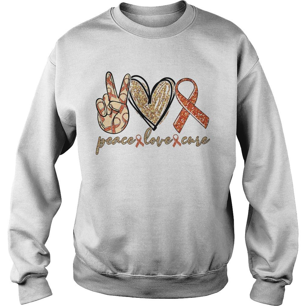 Peace Love Cure Leukemia Awareness Sweater