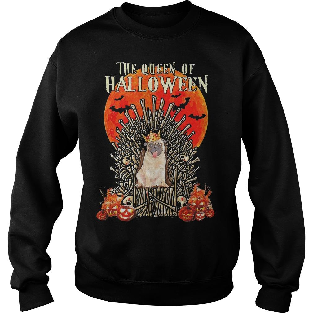 Pug The Queen Of Halloween Sweater