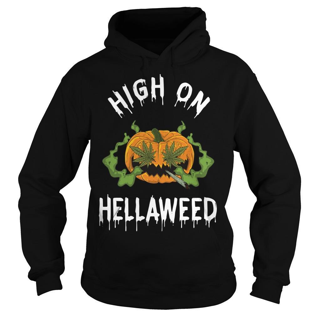 Pumpkin High On Hellaweed Hoodie