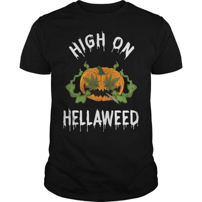 Pumpkin High On Hellaweed Shirt