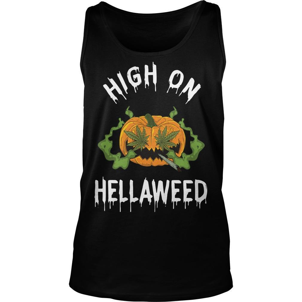 Pumpkin High On Hellaweed Tank Top