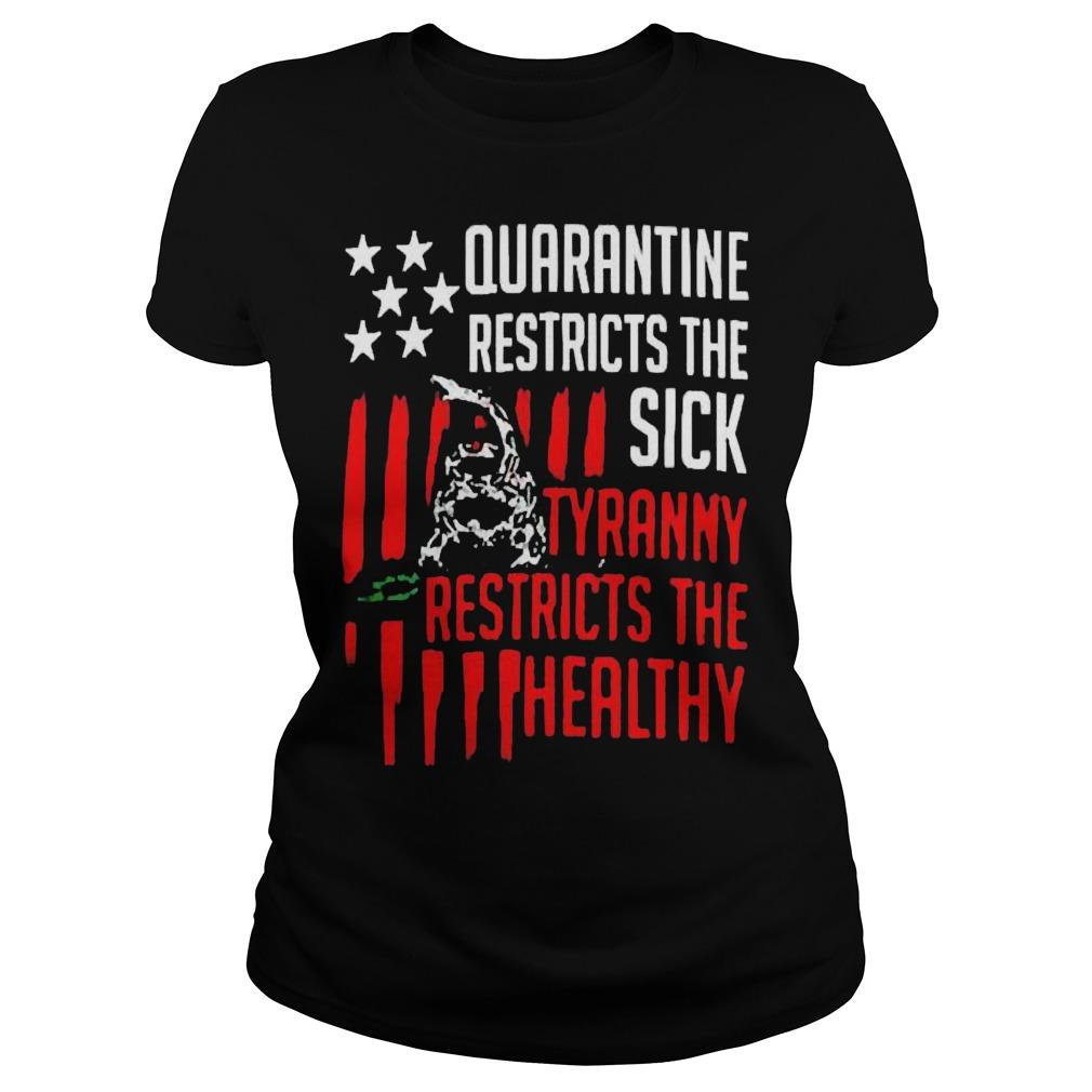 Quarantine Restricts The Sick Tyranny Restricts The Healthy Longsleeve