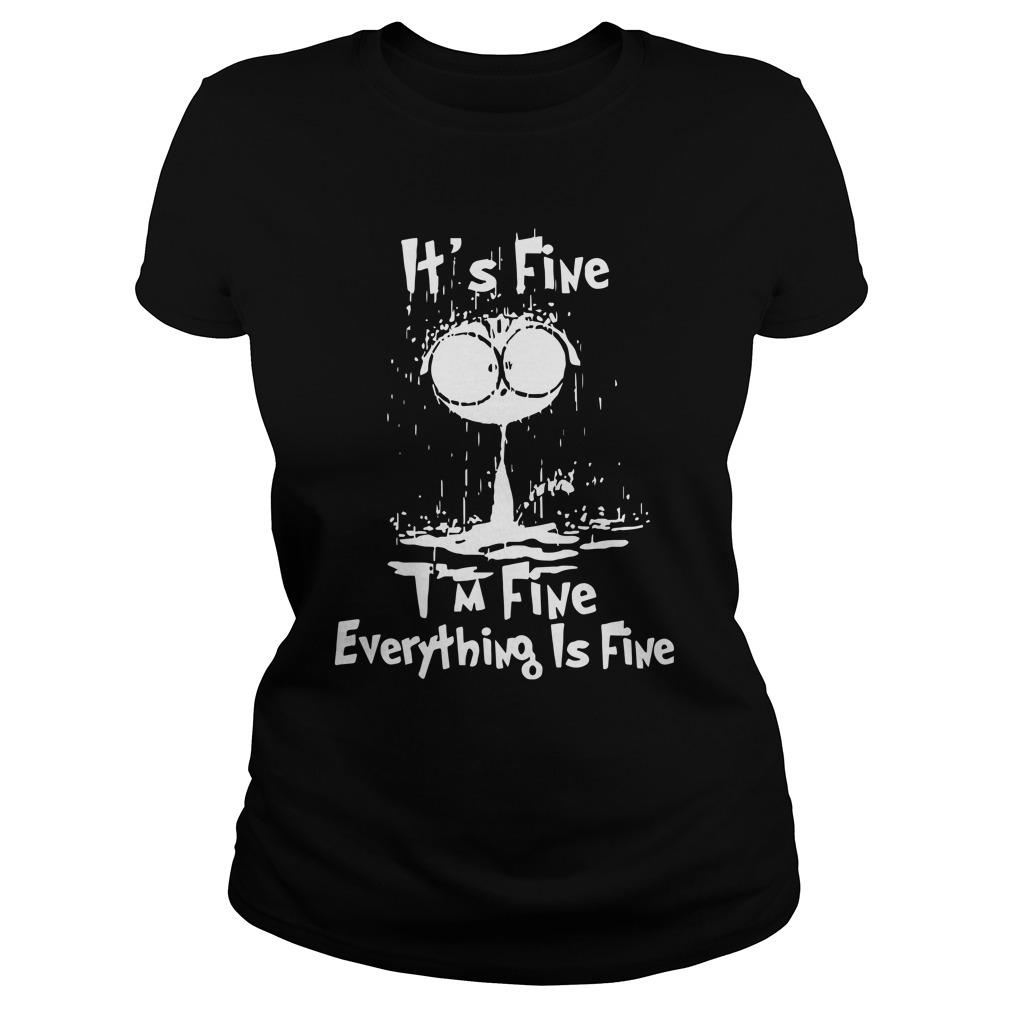 Raining Cat It's Fine I'm Fine Everything Is Fine Longsleeve