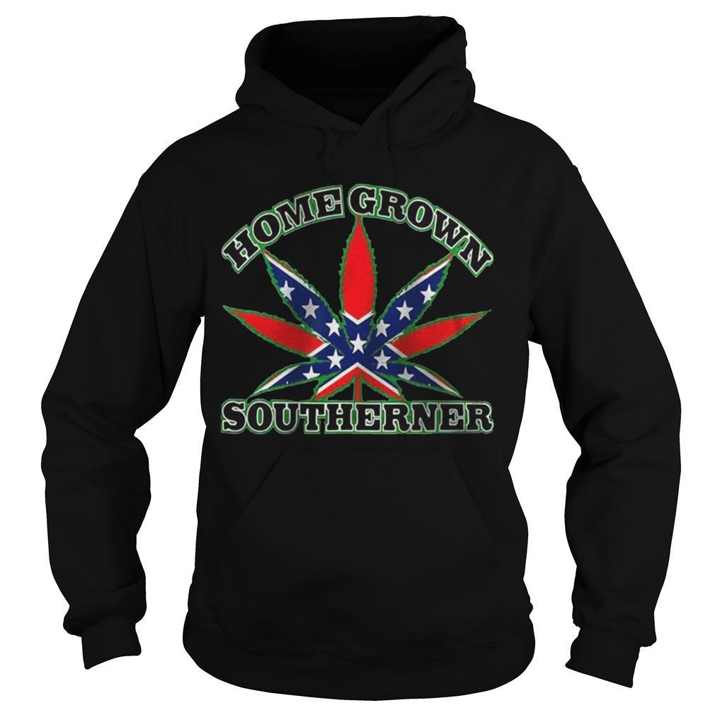 Rebel Flag Weed Homegrown Southerner Hoodie