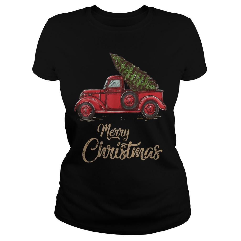 Red Truck Merry Christmas Longsleeve
