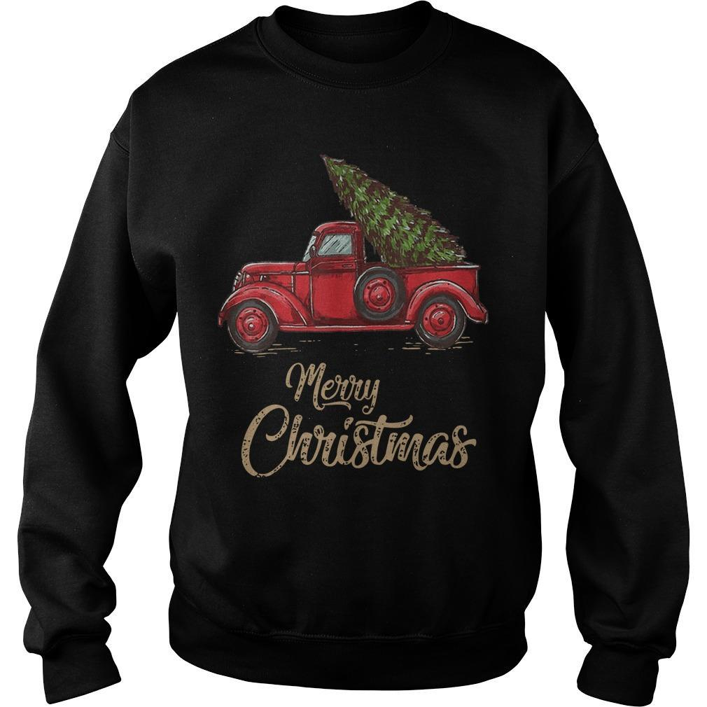 Red Truck Merry Christmas Sweater