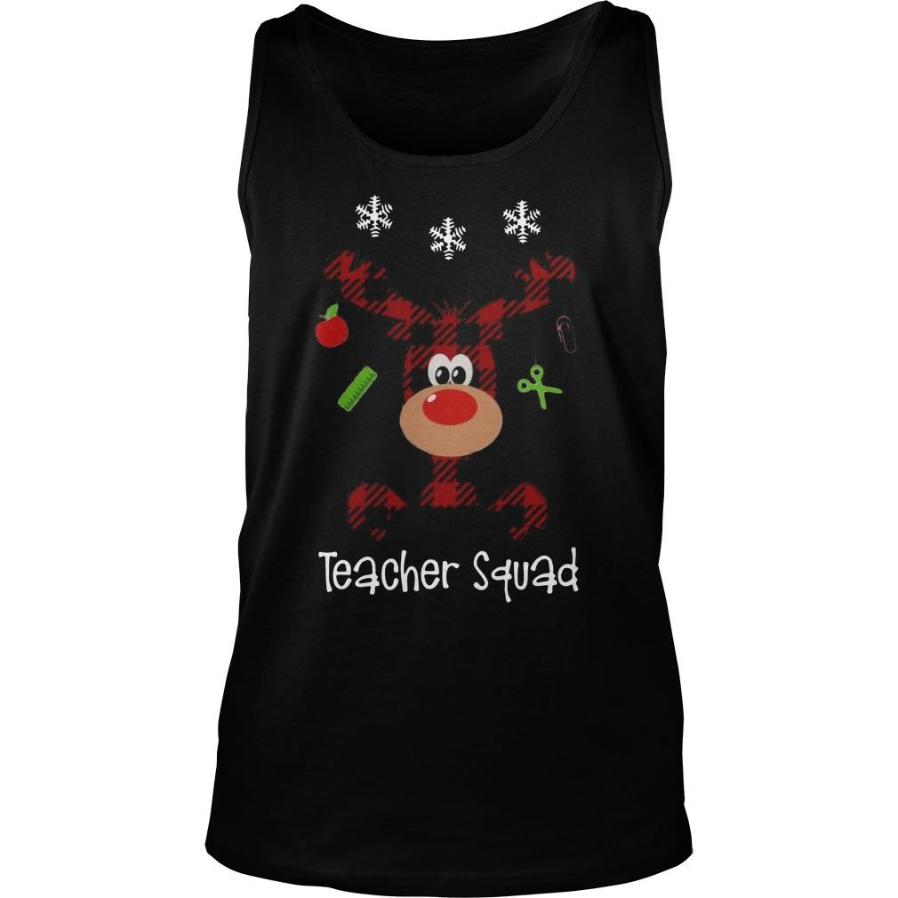 Reindeer Teacher Squad Tank Top