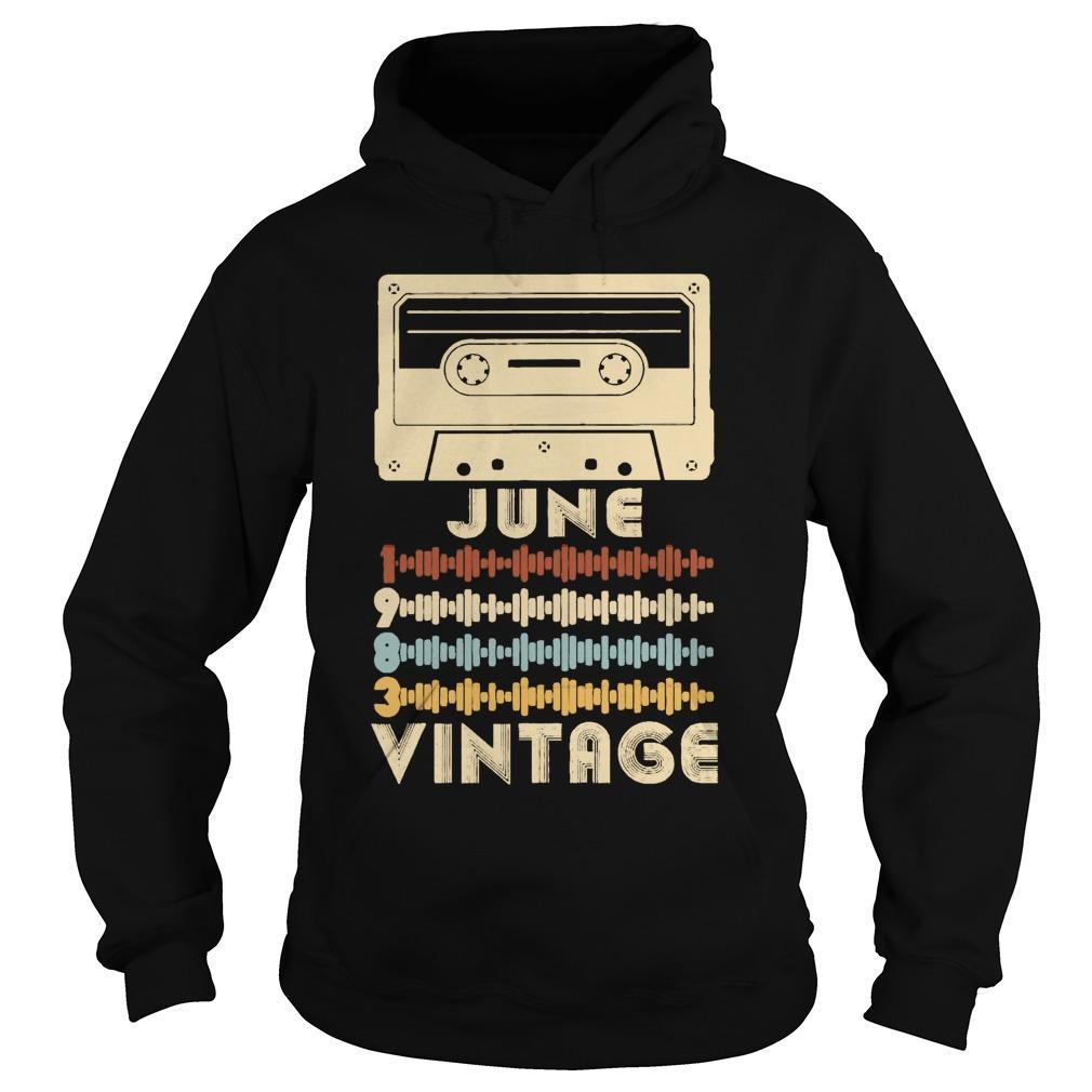 Retro Music June Vintage Hoodie