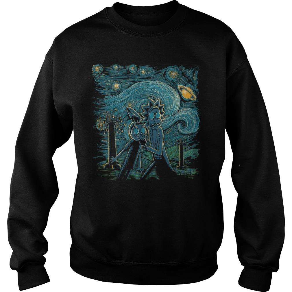 Rick And Morty Horror Night Sweater