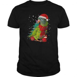 Santa Parrot With Light Merry Christmas Shirt