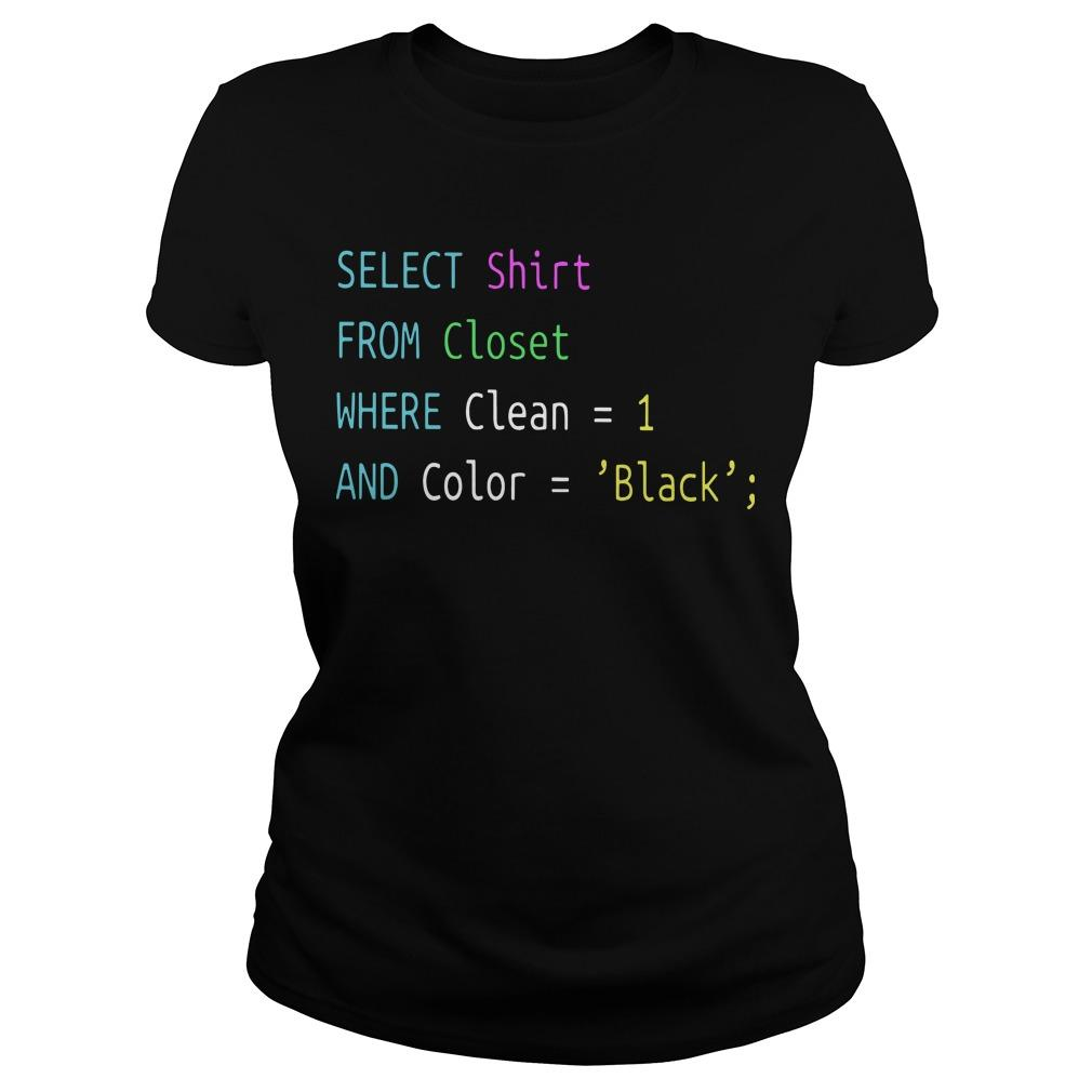 Select From Closet Where Clean 1 And Color Black Longsleeve