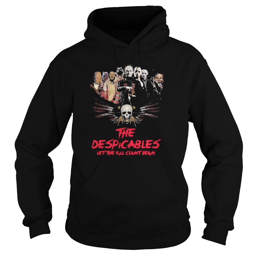 Skull Halloween Horror Characters The Despicables Let The Kill Count Begin Hoodie