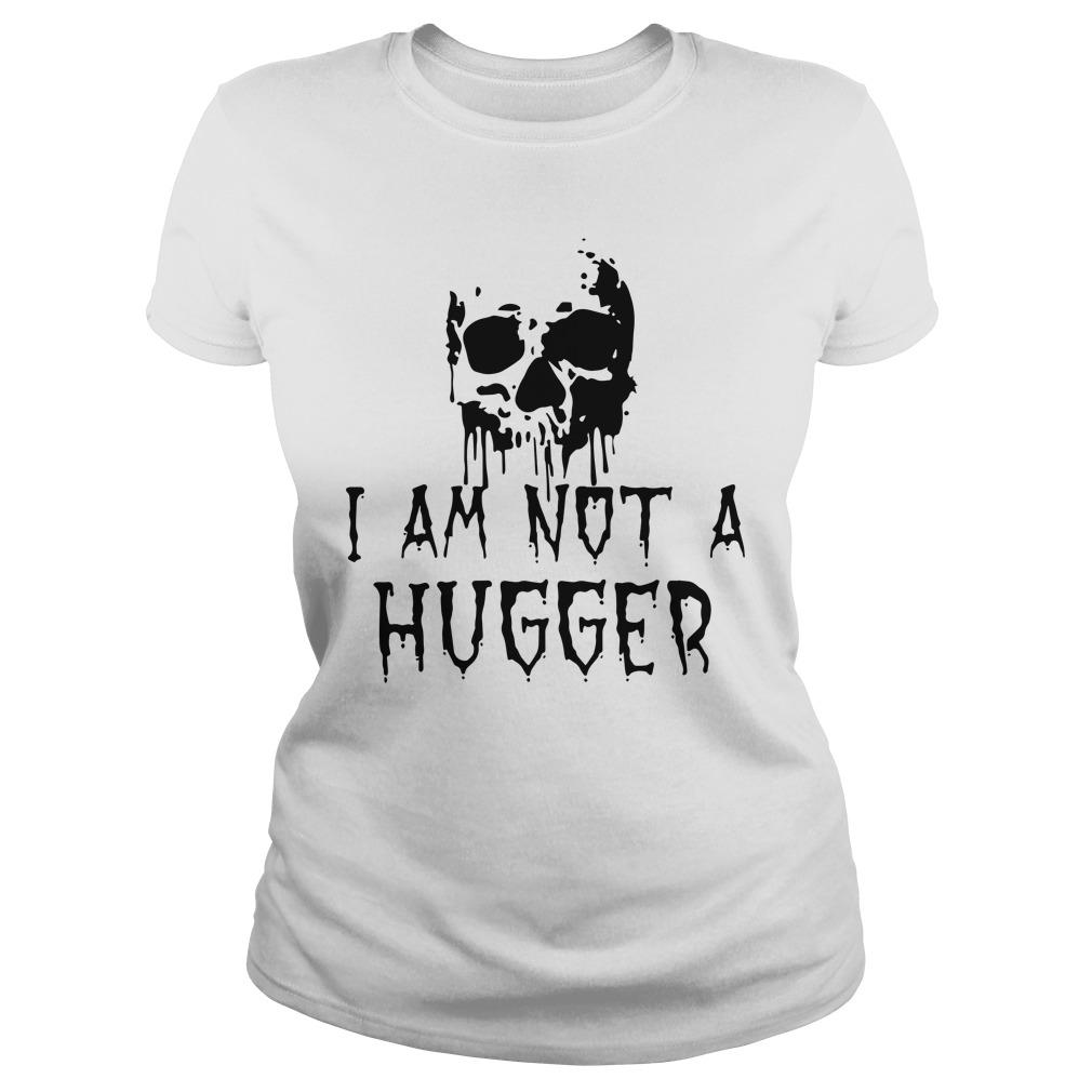 Skull I Am Not A Hugger Longsleeve