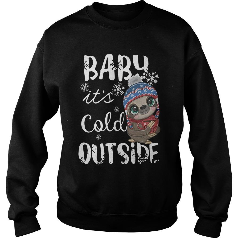 Sloth Baby It's Cold Outside Sweater