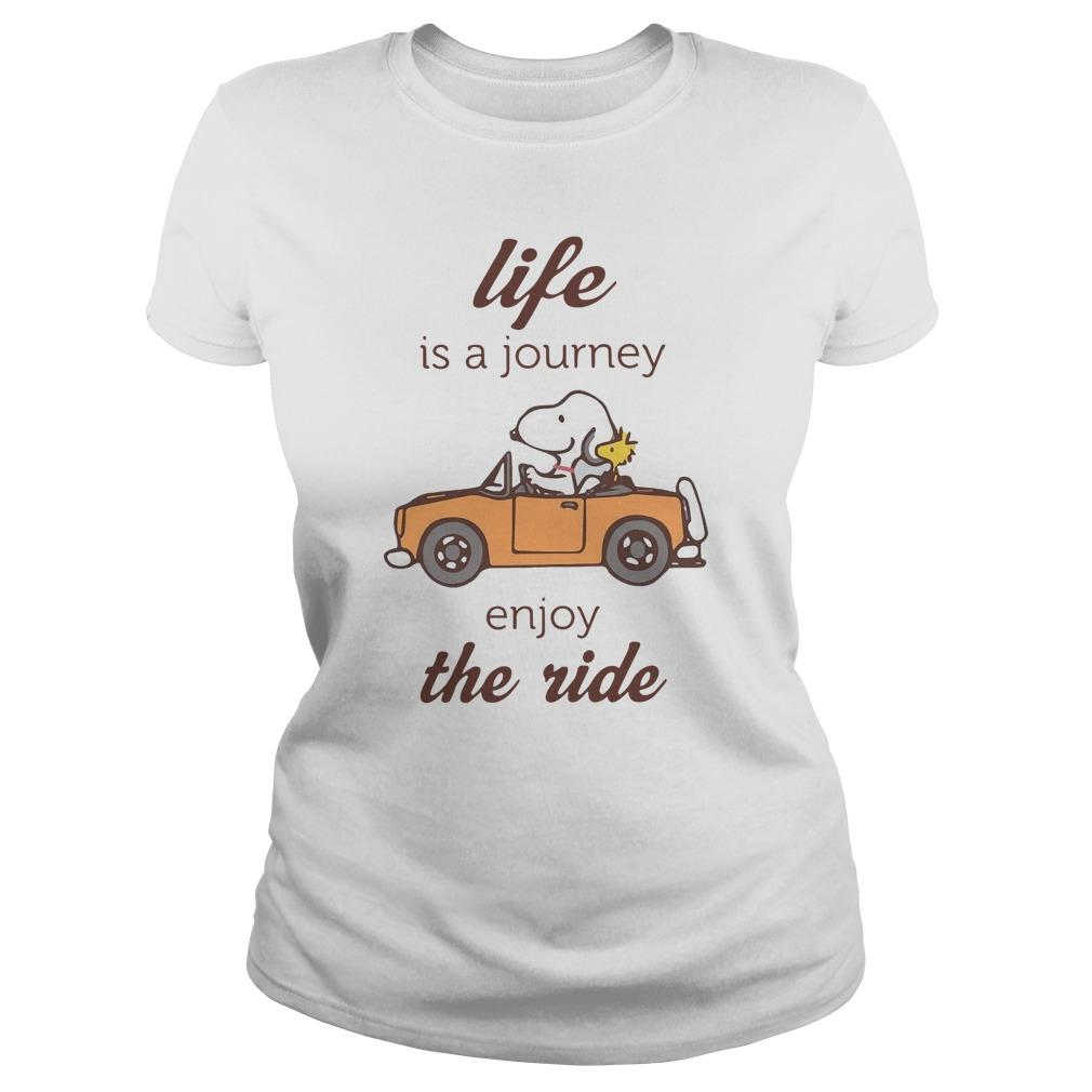 Snoopy Life Is A Journey Enjoy The Ride Longsleeve