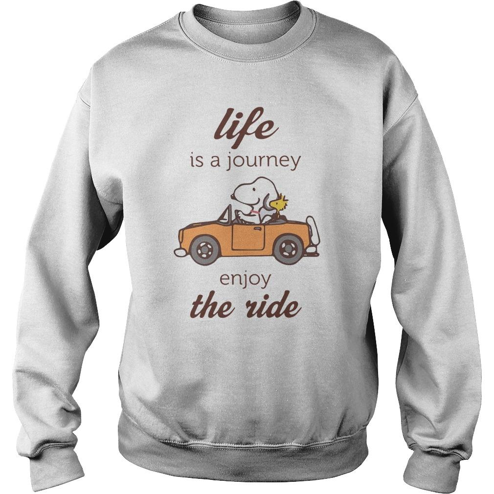Snoopy Life Is A Journey Enjoy The Ride Sweater