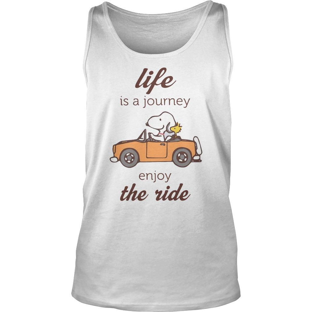 Snoopy Life Is A Journey Enjoy The Ride Tank Top