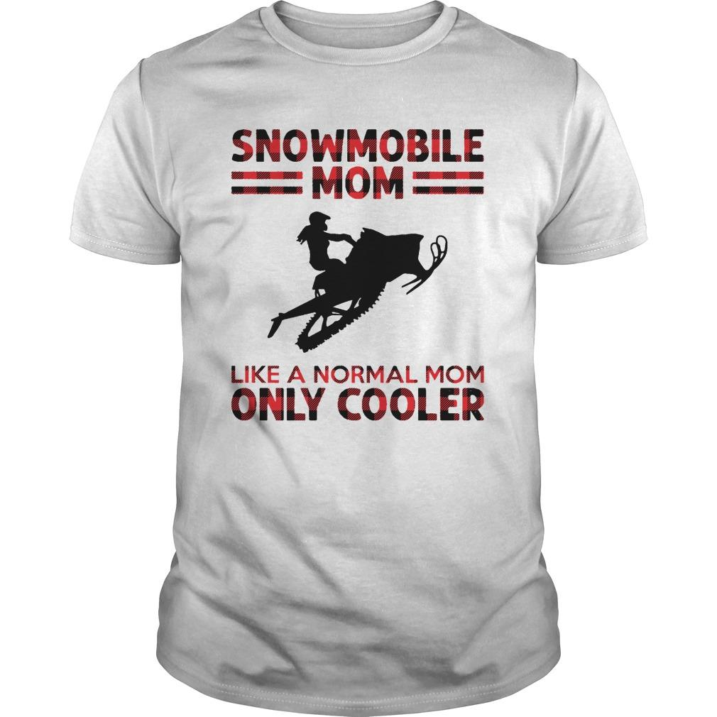 Snowmobile Mom Like A Normal Mom Only Cooler Longsleeve