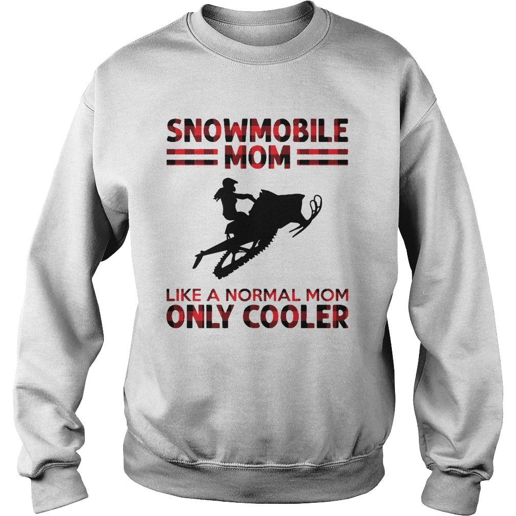Snowmobile Mom Like A Normal Mom Only Cooler Sweater