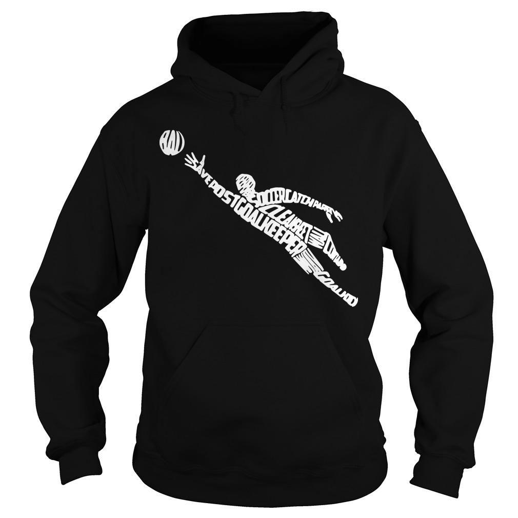 Soccer Goalkeeper Typography With Goalkeeping Terms Hoodie