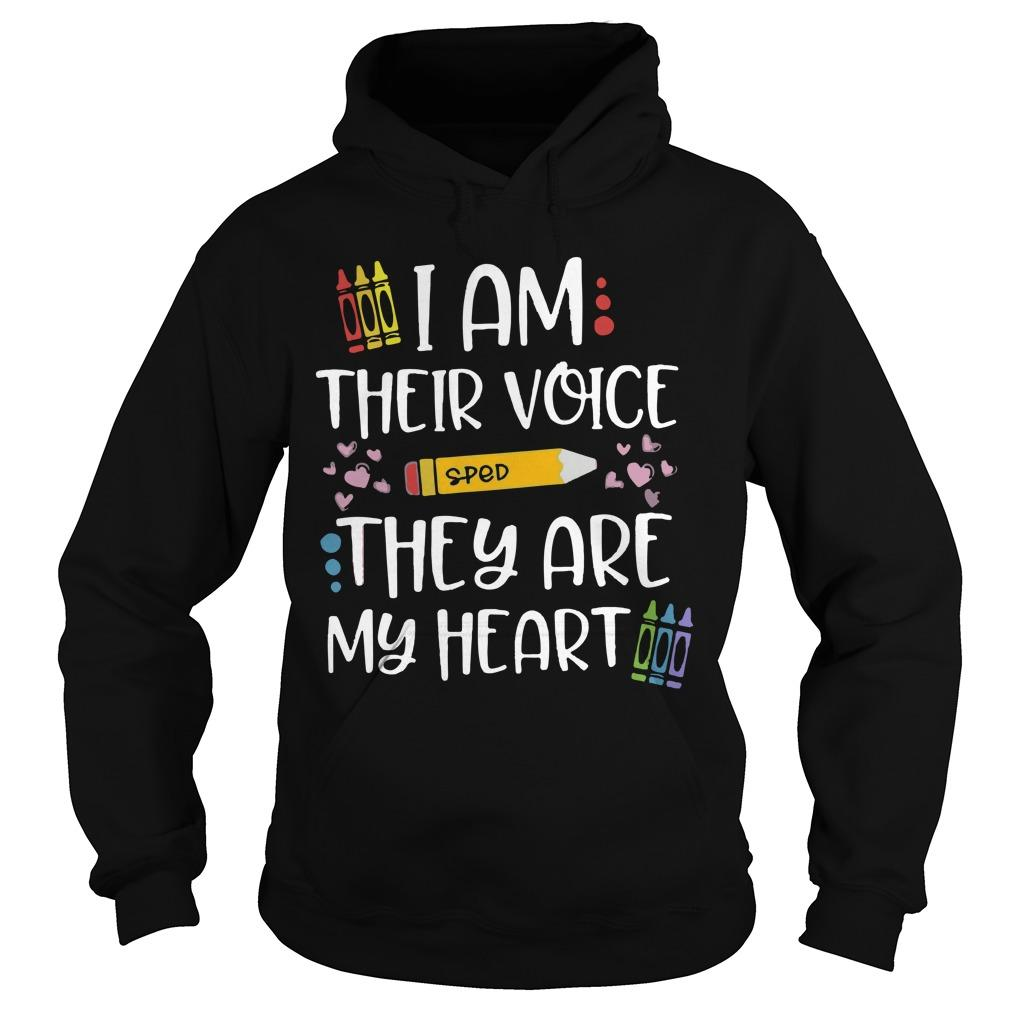 Sped I Am Their Voice They Are My Heart Hoodie