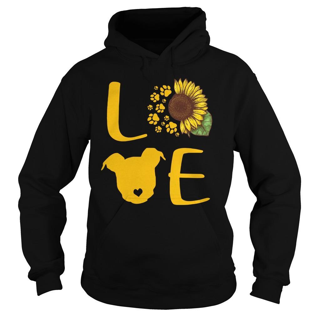 Sunflower Pitbull Love Hoodie