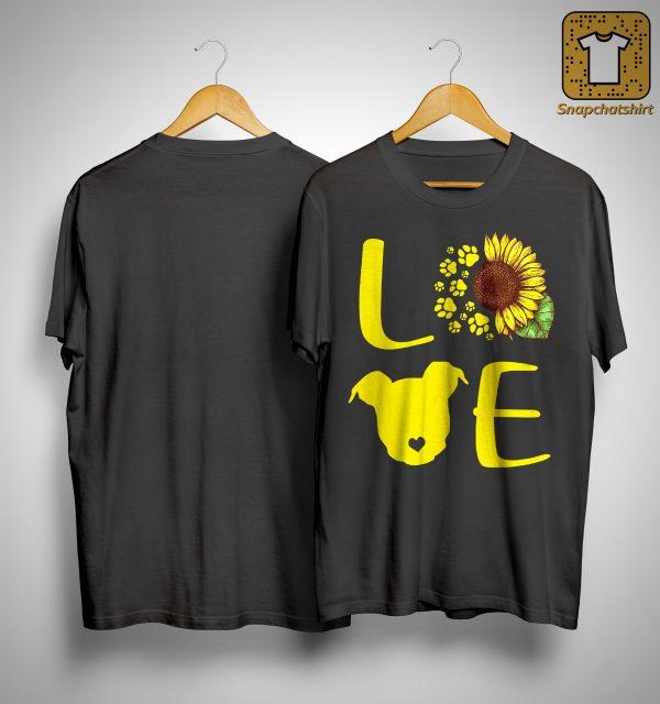 Sunflower Pitbull Love Shirt