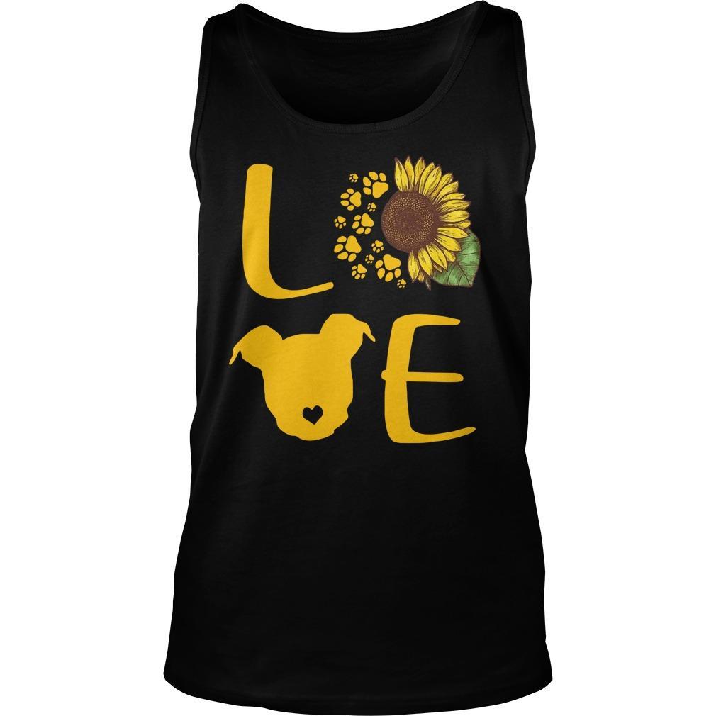 Sunflower Pitbull Love Tank Top
