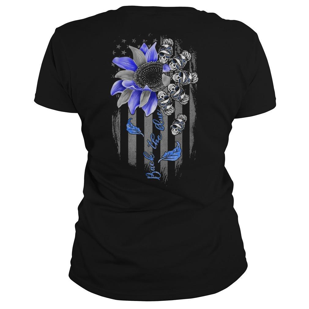 Sunflower Skull Girl Back The Blue Longsleeve