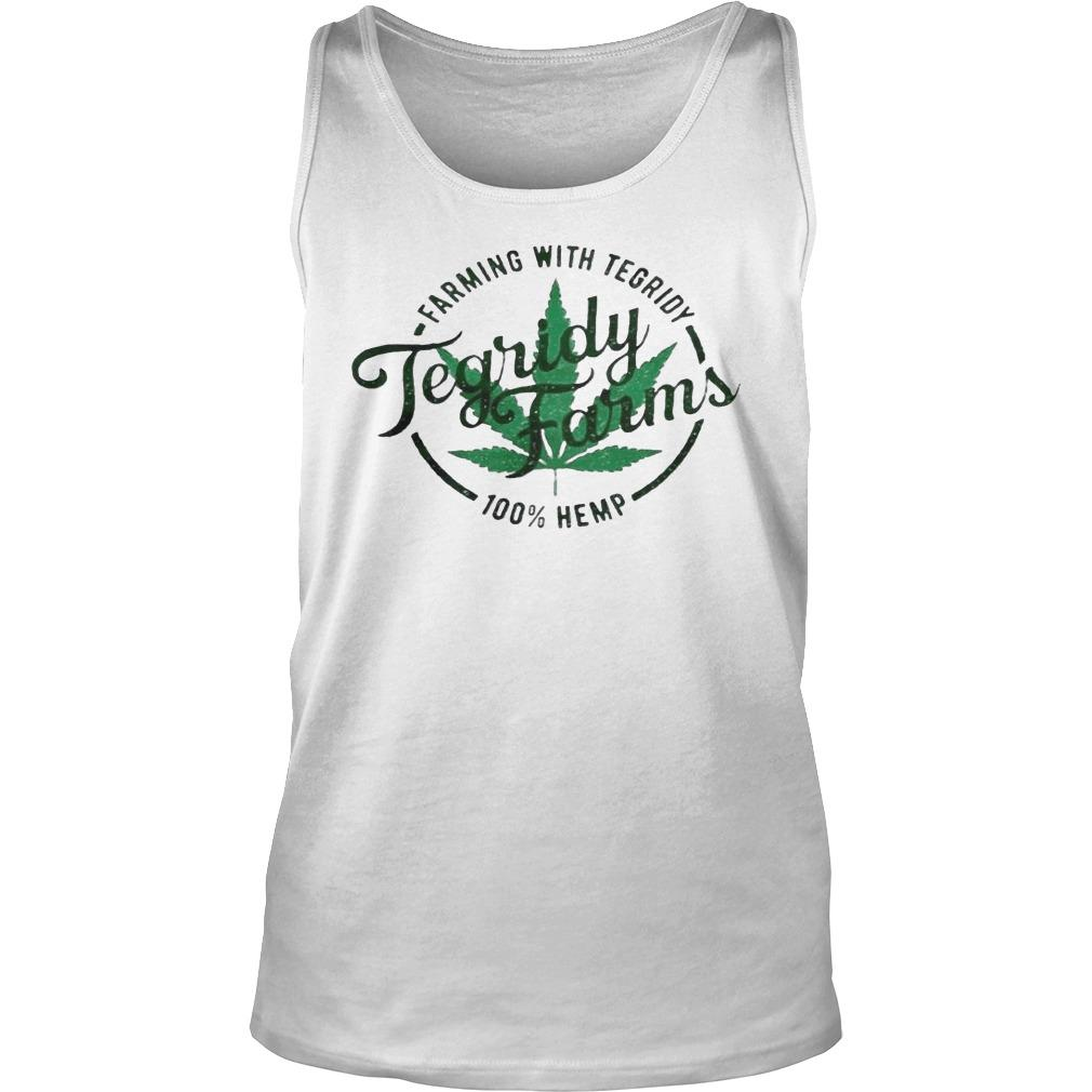 Tegridy Farms Farming With Tegridy 100 Hemp Tank Top
