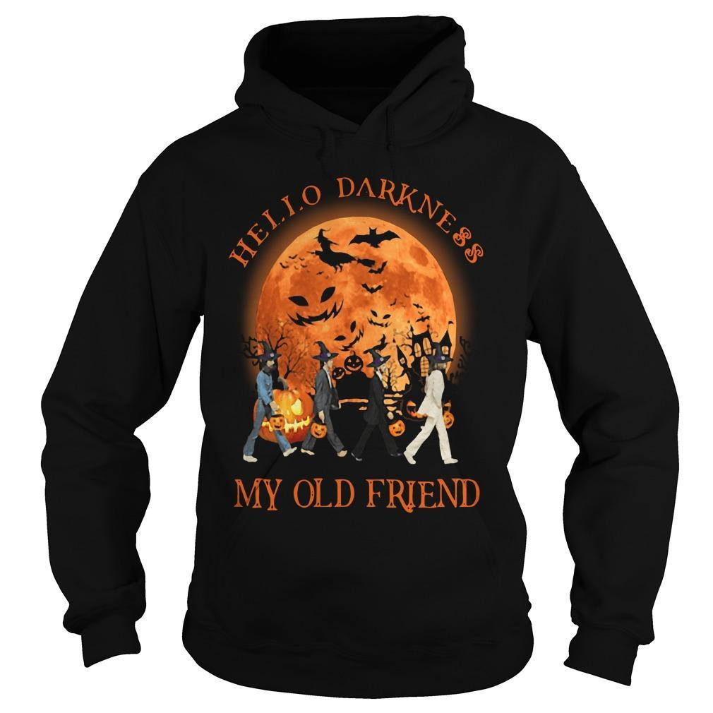 The Beatles Halloween Hello Darkness My Old Friend Hoodie