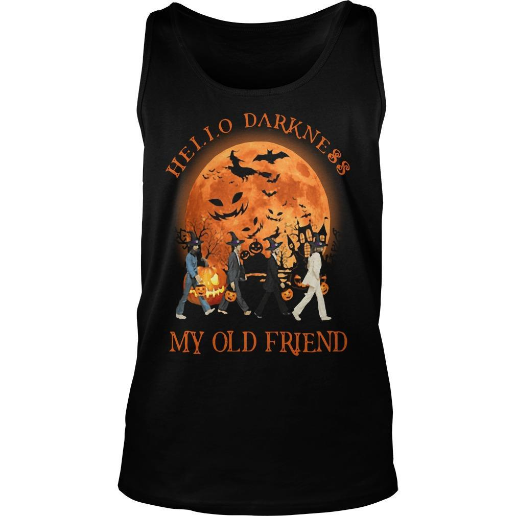 The Beatles Halloween Hello Darkness My Old Friend Tank Top