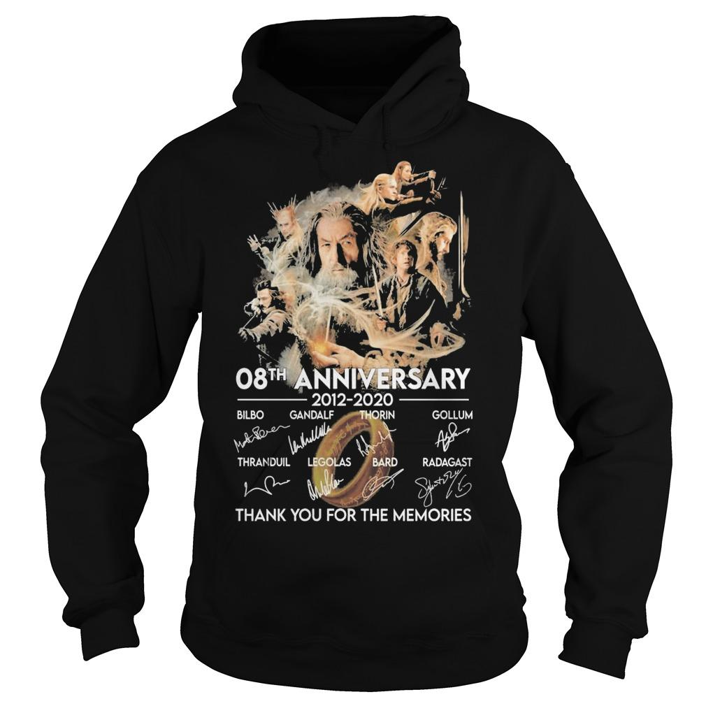 The Desolation Of Smaug 08th Anniversary Thank You For The Memories Hoodie