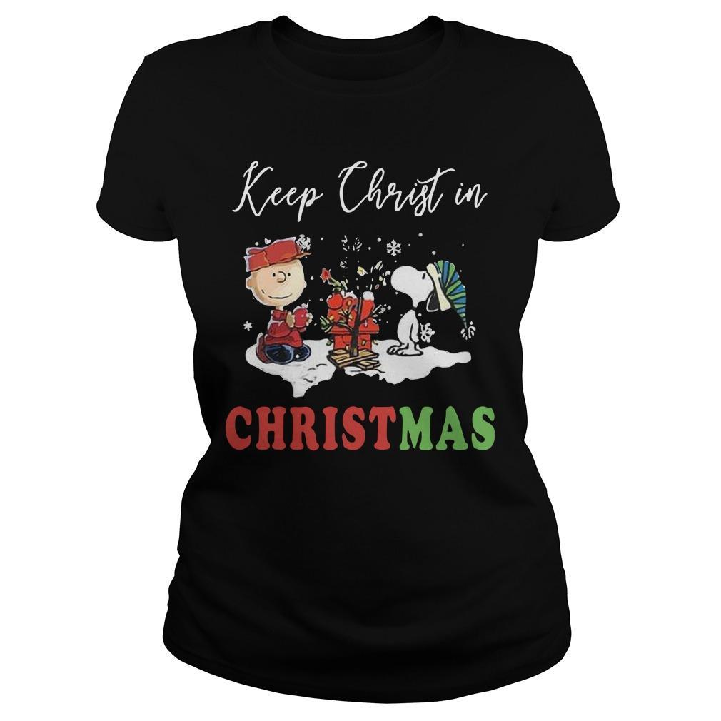 The Snoopy Keep Christ In Christmas Longsleeve