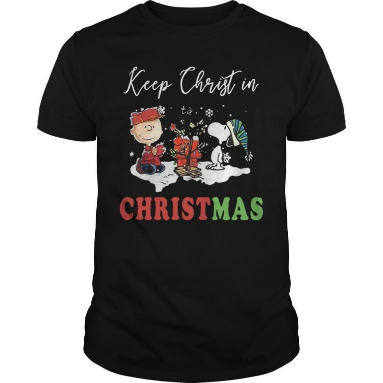 The Snoopy Keep Christ In Christmas Shirt