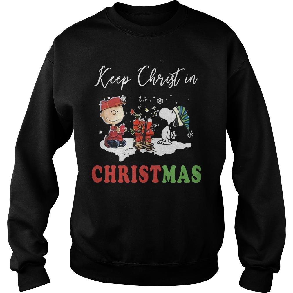The Snoopy Keep Christ In Christmas Sweater