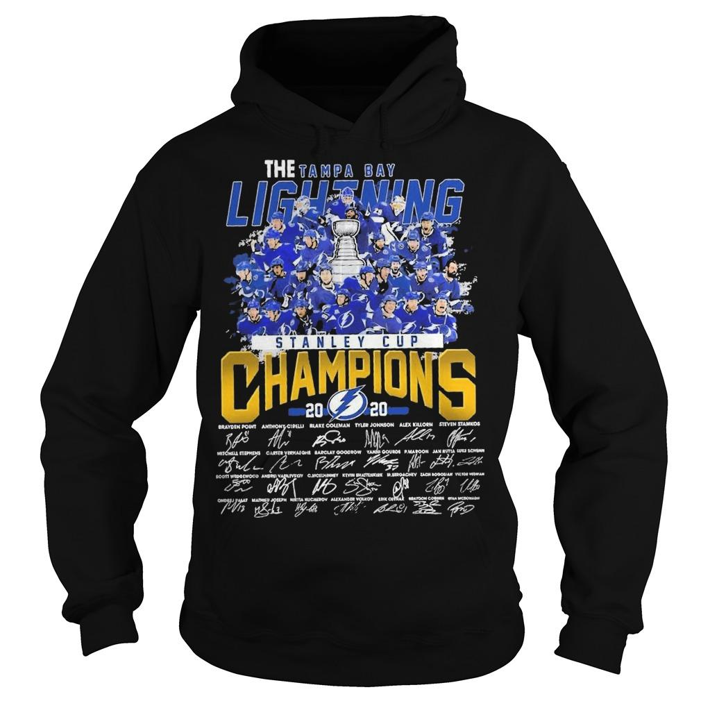 The Tampa Bay Lightning Stanley Cup Champions 2020 Signatures Hoodie