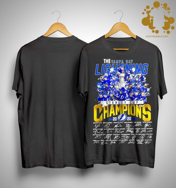The Tampa Bay Lightning Stanley Cup Champions 2020 Signatures Shirt