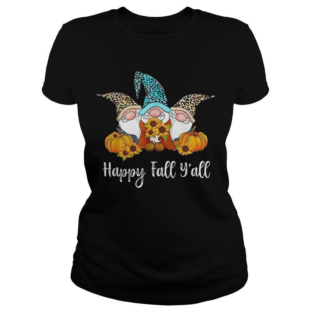 Three Gnomes Happy Fall Y'all Longsleeve
