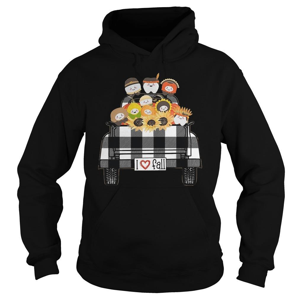 Tooth Sunflower Native I Love Fall Hoodie