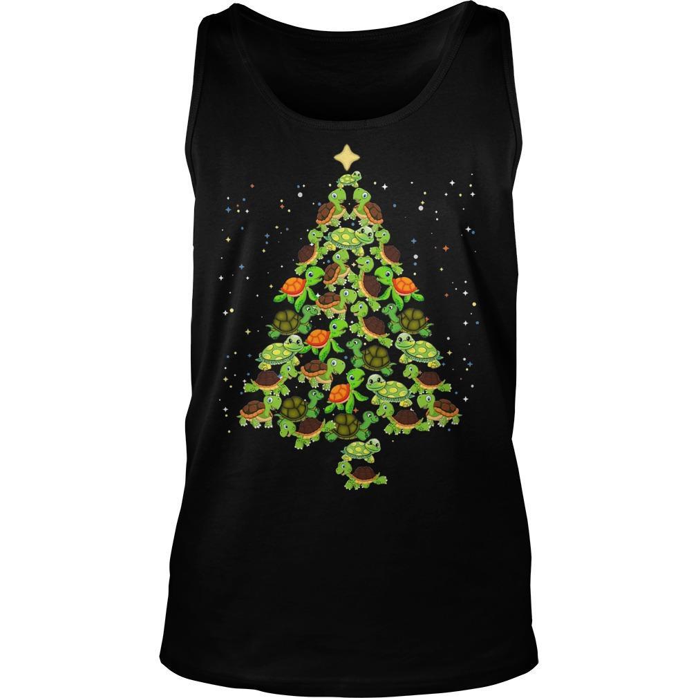 Turtle Christmas Tree Tank Top