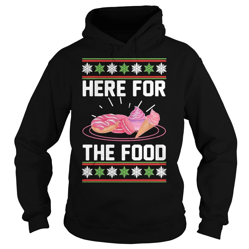 Ugly Christmas Donut Ice Cream Here For The Food Hoodie