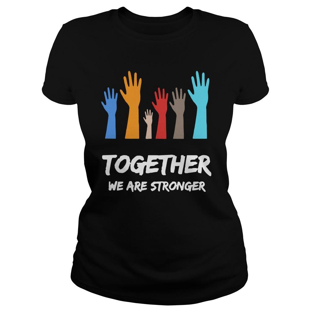 Usa Blm Together We Are Stronger Hoodie