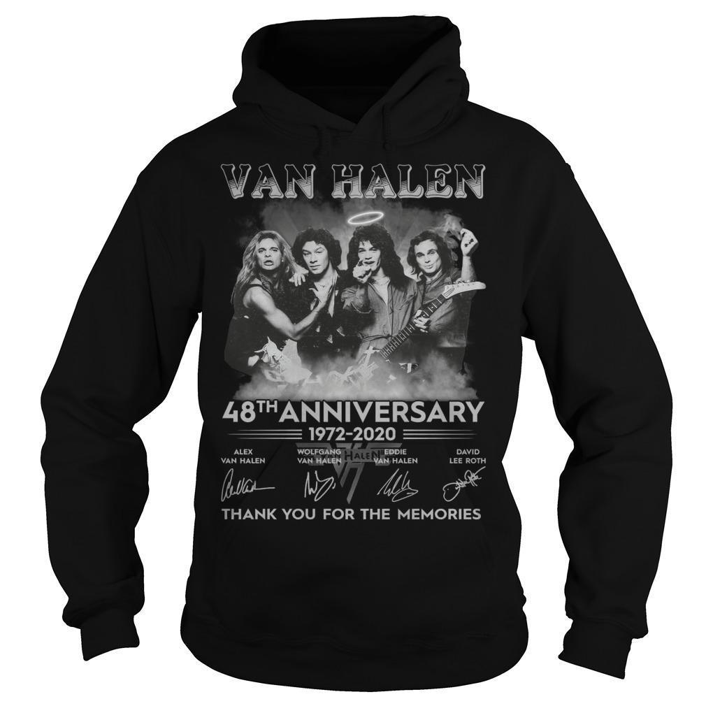 Van Halen 48th Anniversary Thank You For The Memories Hoodie