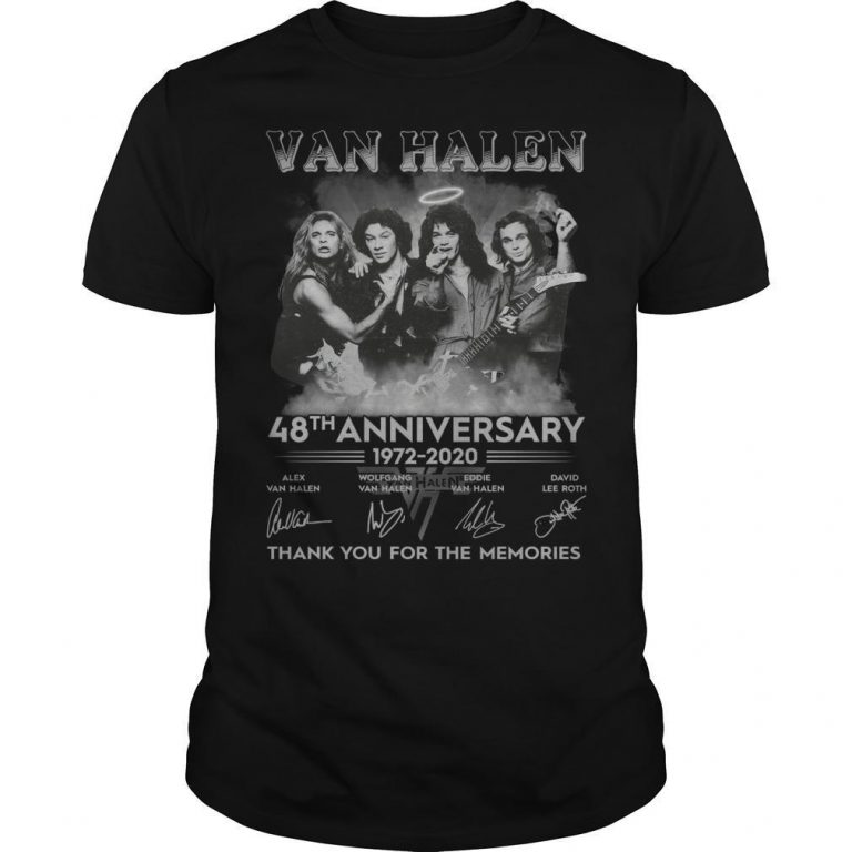 Van Halen 48th Anniversary Thank You For The Memories Shirt