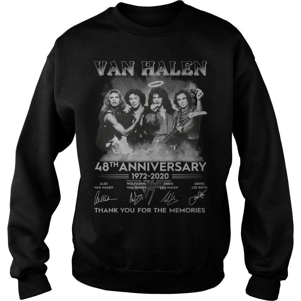 Van Halen 48th Anniversary Thank You For The Memories Sweater