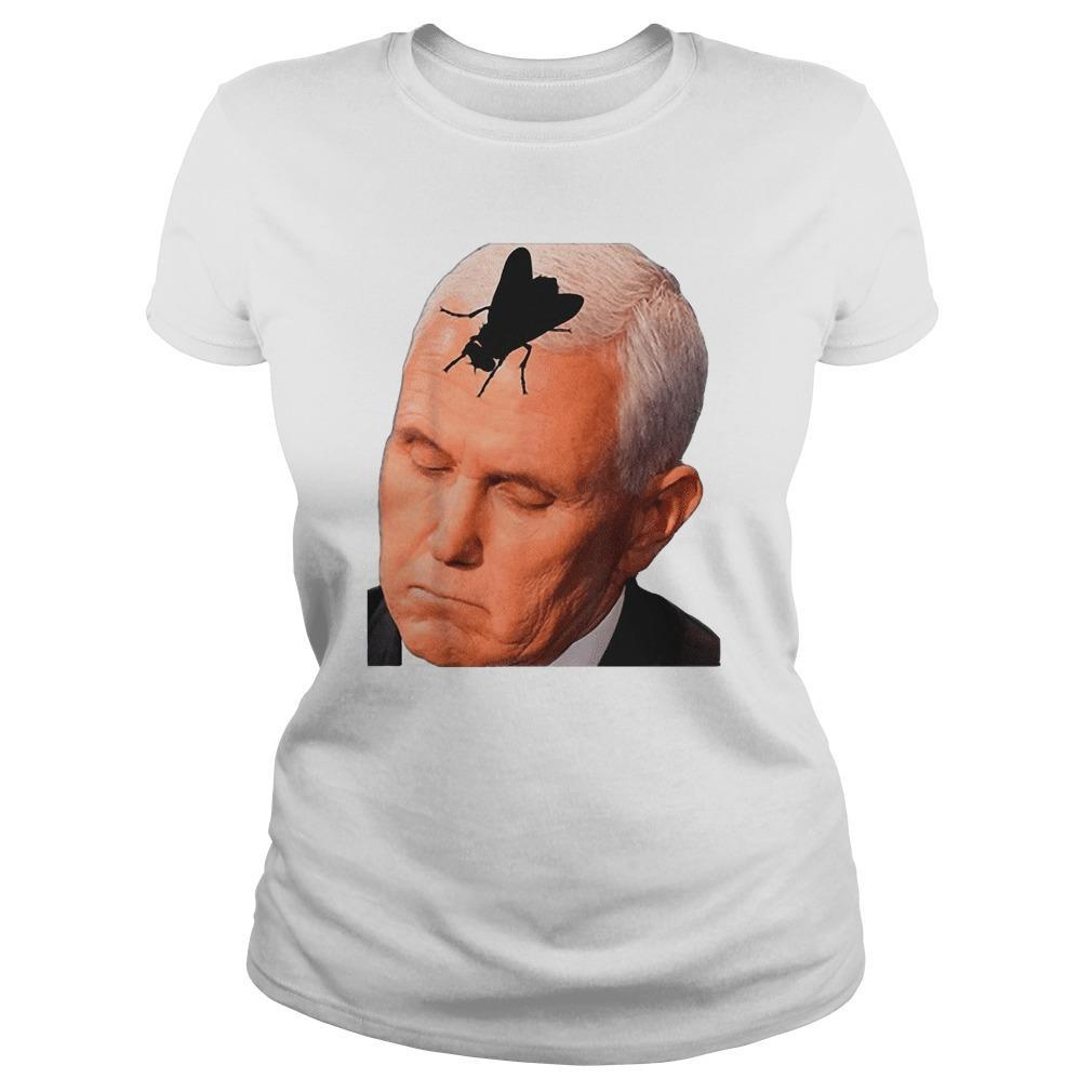 Vice President Mike Pence With Fly On The Head Longsleeve